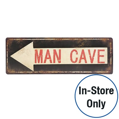 MAN CAVE WALL SIGN